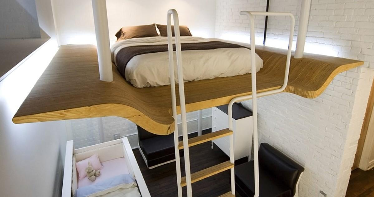 Самый невероятный вариант размещения спальни