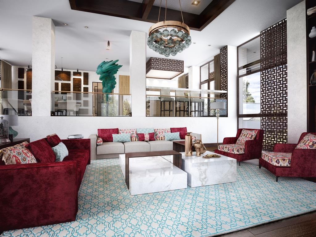 Гостиная в  цветах:   Белый, Коричневый, Светло-серый, Темно-коричневый.  Гостиная в  стиле:   Эклектика.