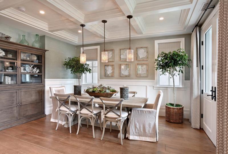 Кухня/столовая в  цветах:   Бежевый, Коричневый, Светло-серый, Серый.  Кухня/столовая в  стиле:   Кантри.