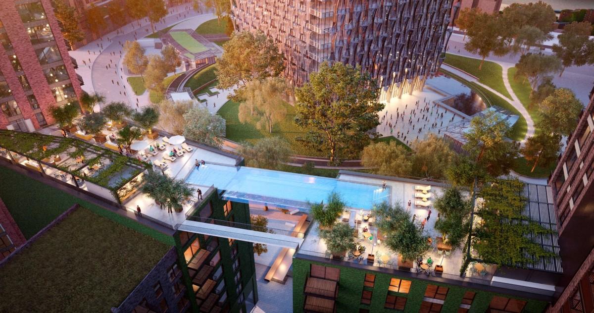 В Лондоне в 35 метрах над землёй возведут бассейн с прозрачным дном