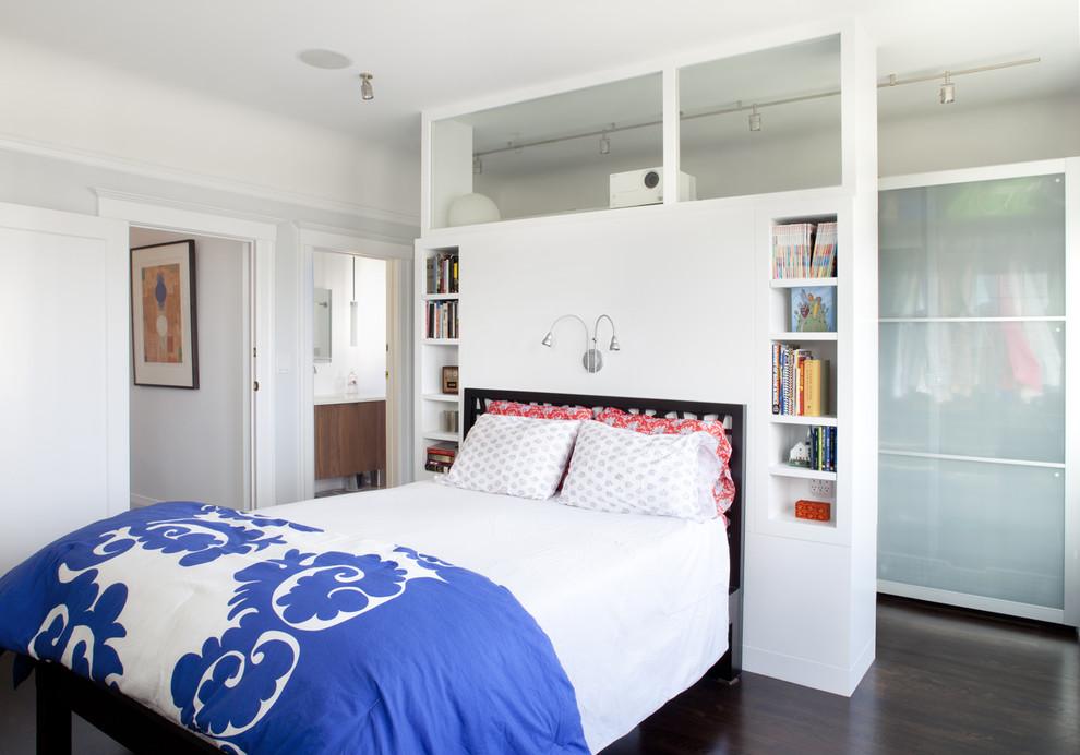 Спальня в  цветах:   Белый, Бирюзовый, Голубой, Черный.  Спальня в  стиле:   Минимализм.