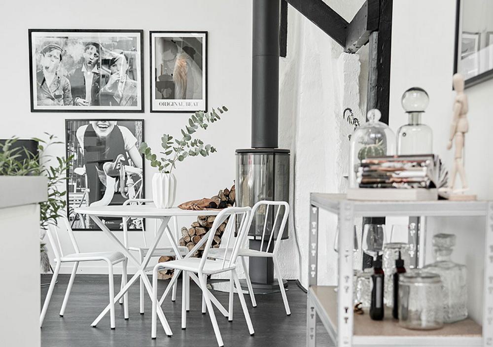 Как сделать идеальный интерьер: 59 метров гармонии чёрного и белого
