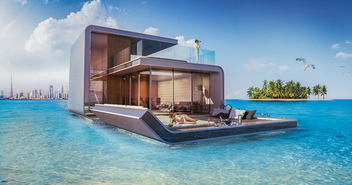 В Дубае создали проект дома, наполовину погружённого в море