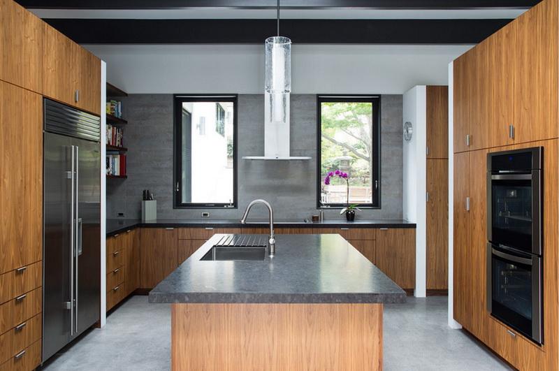 Кухня/столовая в  цветах:   Бежевый, Бирюзовый, Серый, Черный.  Кухня/столовая в  стиле:   Минимализм.