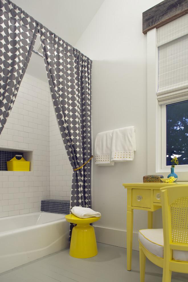 Ванная в  цветах:   Бежевый, Белый, Светло-серый, Серый.  Ванная в  стиле:   Эклектика.