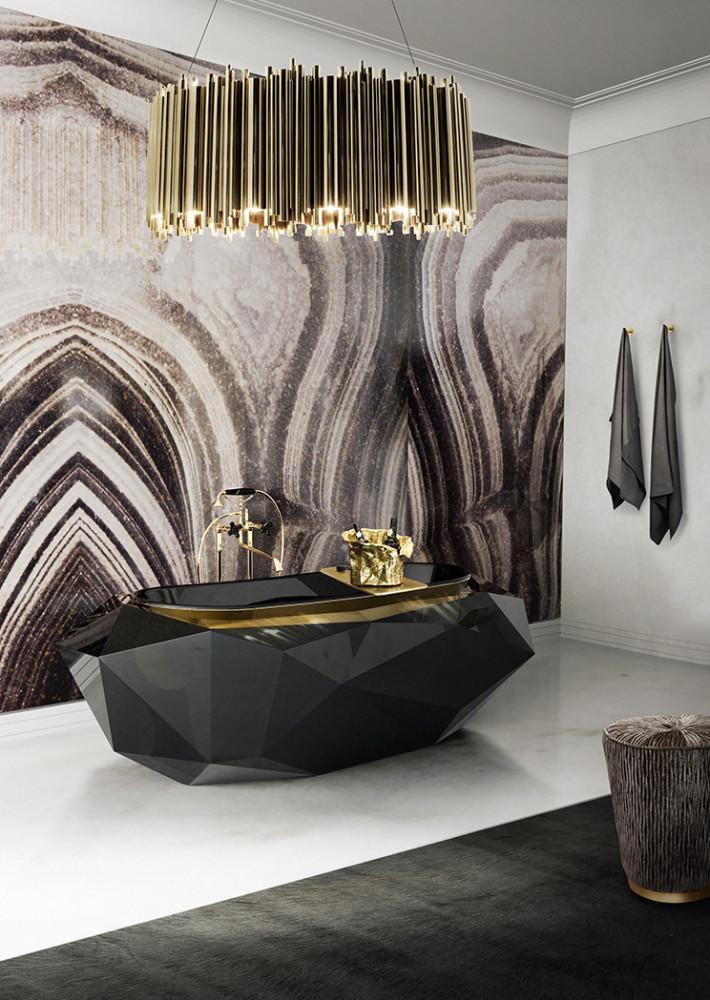 Записки дизайнера: 5 ванных комнат в стиле ар-деко