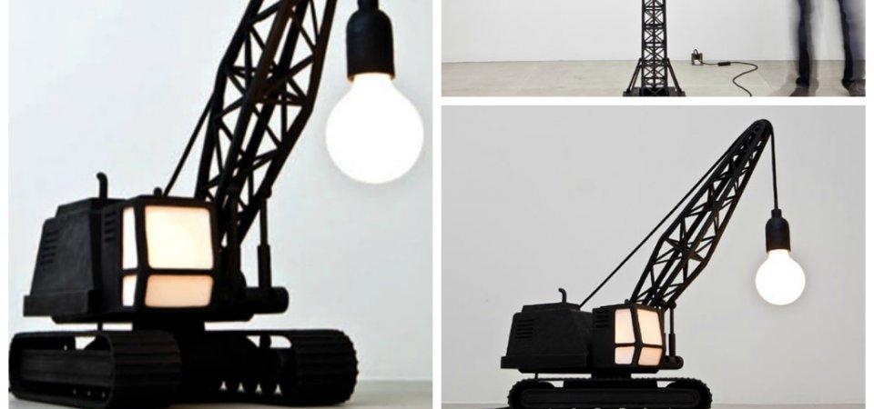 Бульдозер, который стал светильником: неожиданный декор