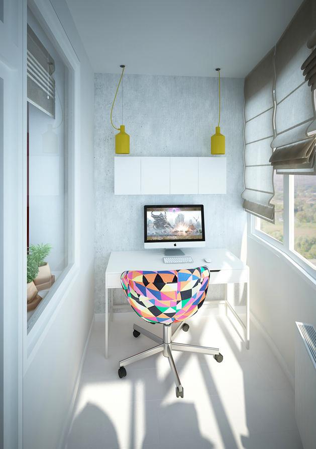 Балкон, веранда, патио в цветах: бирюзовый, серый, светло-серый, белый. Балкон, веранда, патио в стиле скандинавский стиль.