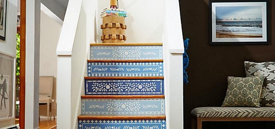 Наши руки не для скуки: декорируем лестницу в марокканском стиле