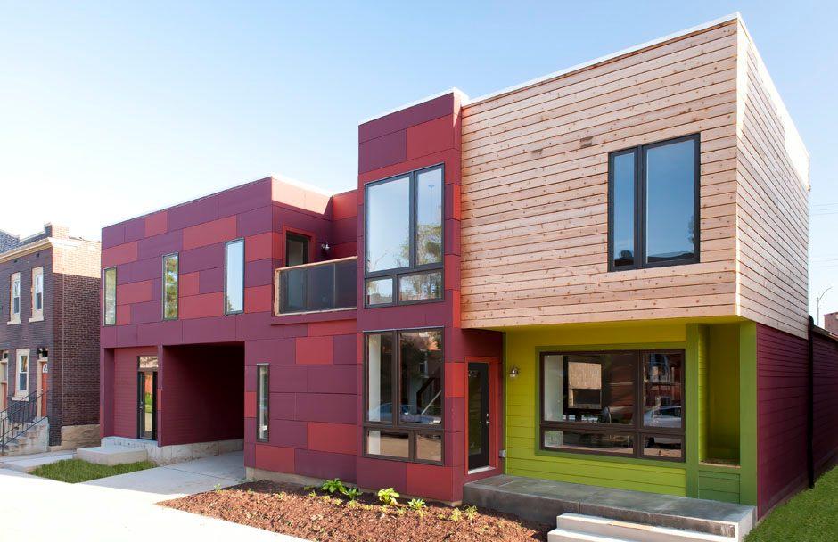 Архитектура в цветах: розовый, салатовый, коричневый, бежевый. Архитектура в .