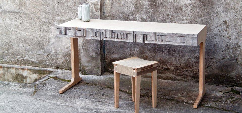 Бумага всё стерпит: как выглядит мебель из макулатуры