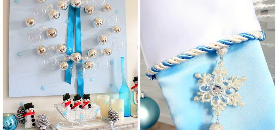 Новогодний декор: 40 серебряно-синих идей украшения ёлки и дома
