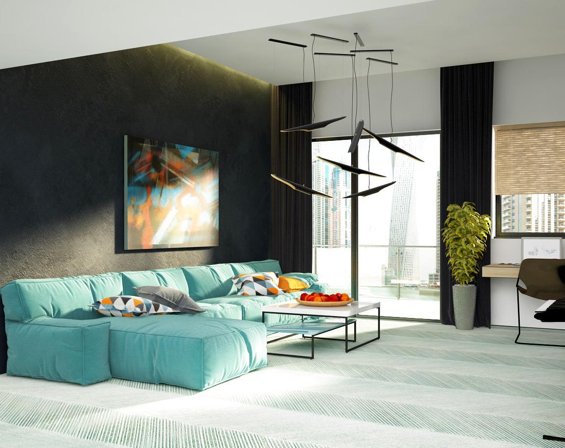 Гостиная, холл в цветах: голубой, черный, светло-серый, белый, бежевый. Гостиная, холл в стилях: минимализм, экологический стиль, эклектика.