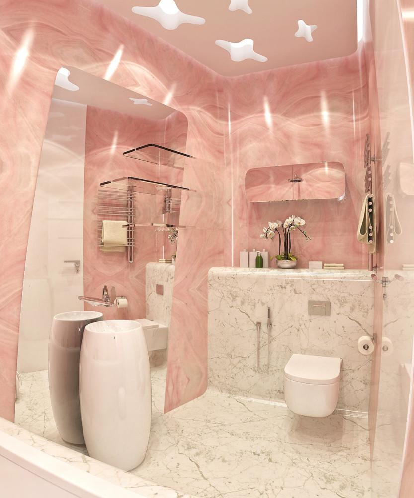 Мебель и предметы интерьера в цветах: светло-серый, белый, розовый. Мебель и предметы интерьера в стилях: неоклассика.