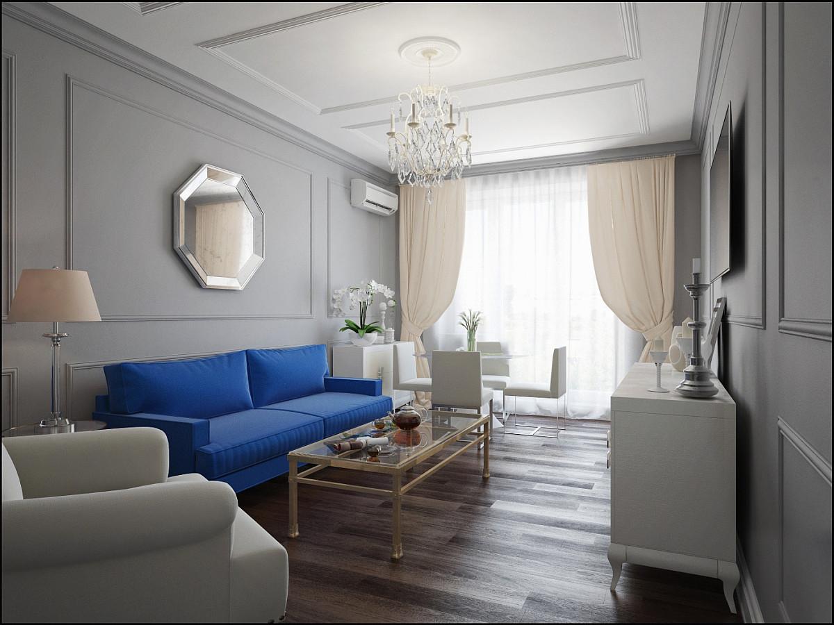 Гостиная, холл в цветах: бирюзовый, черный, серый, светло-серый, белый. Гостиная, холл в .