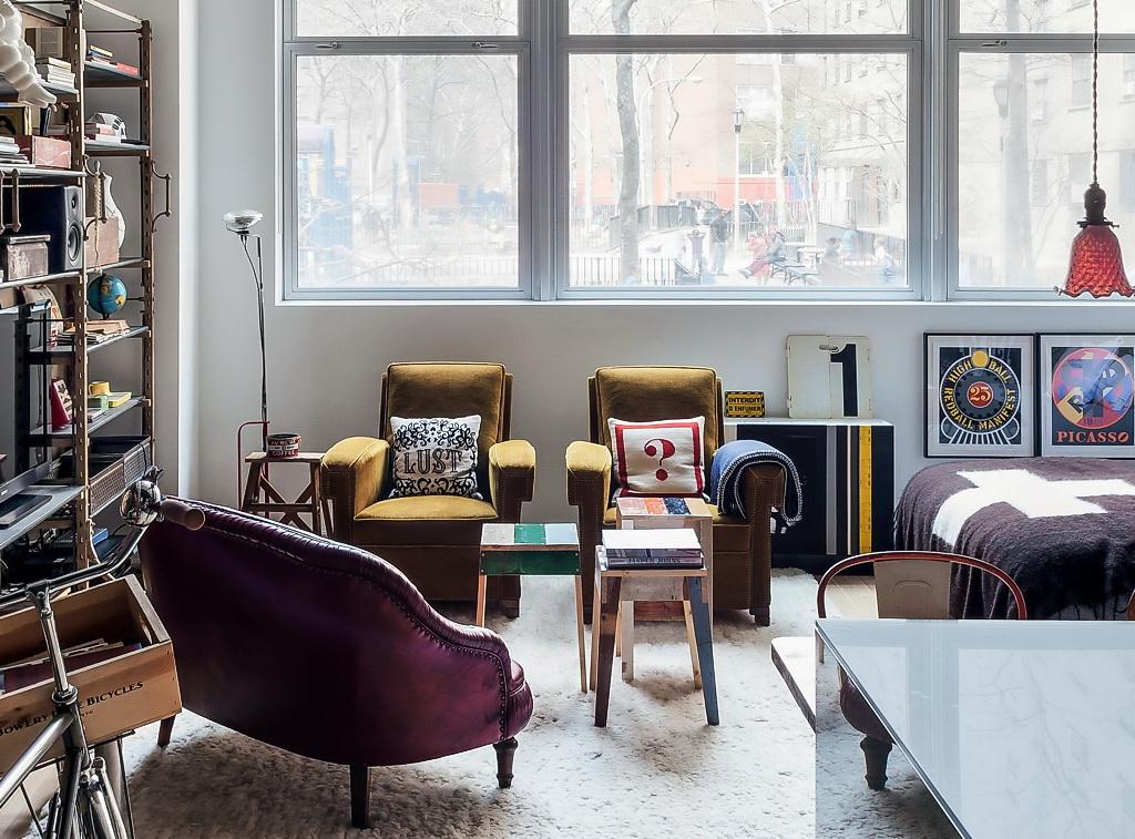Маленькая студия в стиле лофт в Нью-Йорке