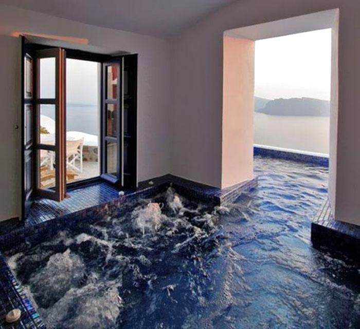 Бассейн, баня, сауна в цветах: светло-серый, белый. Бассейн, баня, сауна в стиле минимализм.