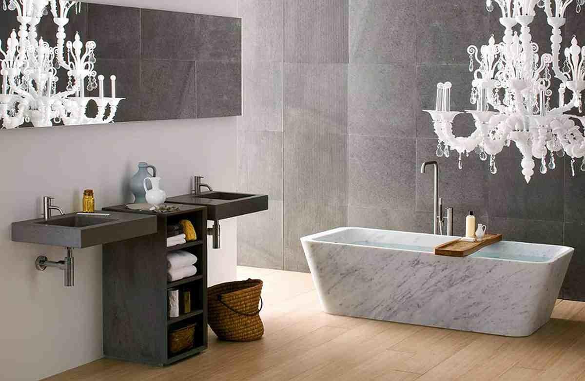 Туалет в цветах: черный, серый, светло-серый, белый, бежевый. Туалет в стиле эклектика.