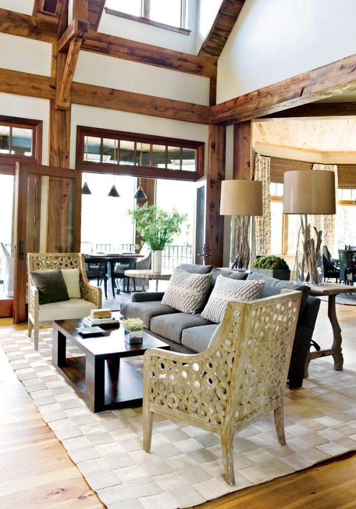 Гостиная, холл в цветах: серый, светло-серый, белый, коричневый, бежевый. Гостиная, холл в стилях: эклектика.