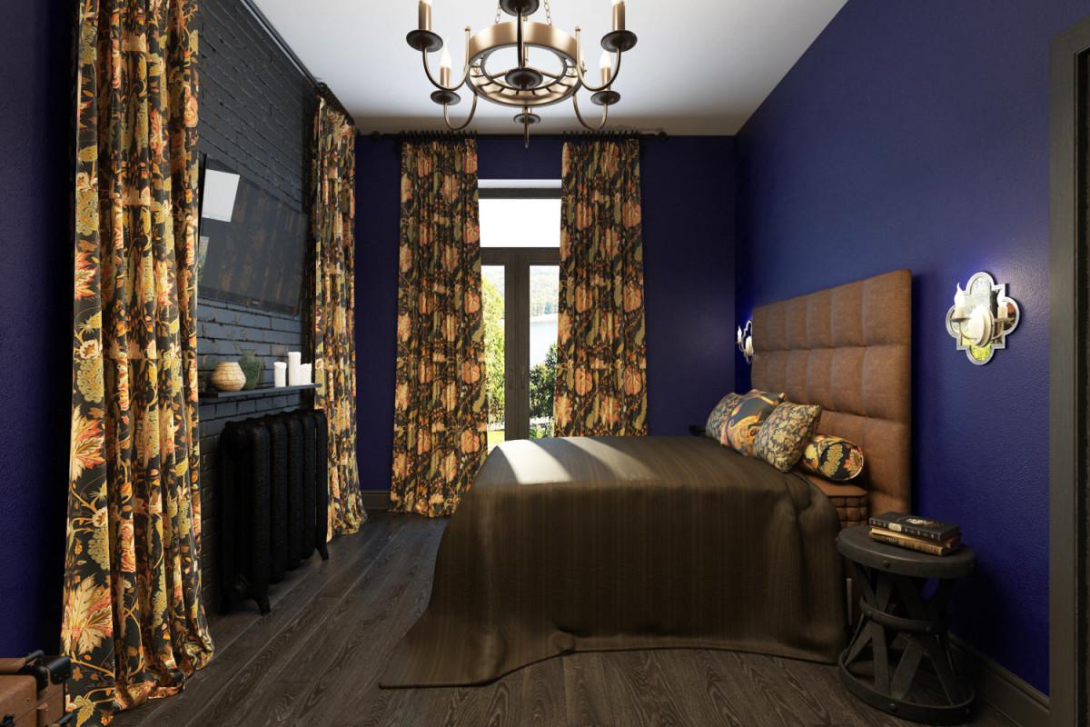 Мебель и предметы интерьера в цветах: фиолетовый, черный, темно-зеленый, коричневый. Мебель и предметы интерьера в стиле лофт.