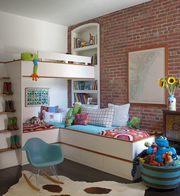 Детская в цветах: серый, светло-серый, белый, сине-зеленый, коричневый. Детская в стиле минимализм.