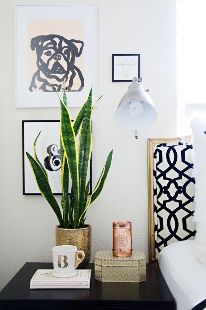 Мебель и предметы интерьера в цветах: черный, серый, светло-серый, белый, темно-зеленый. Мебель и предметы интерьера в стиле эклектика.