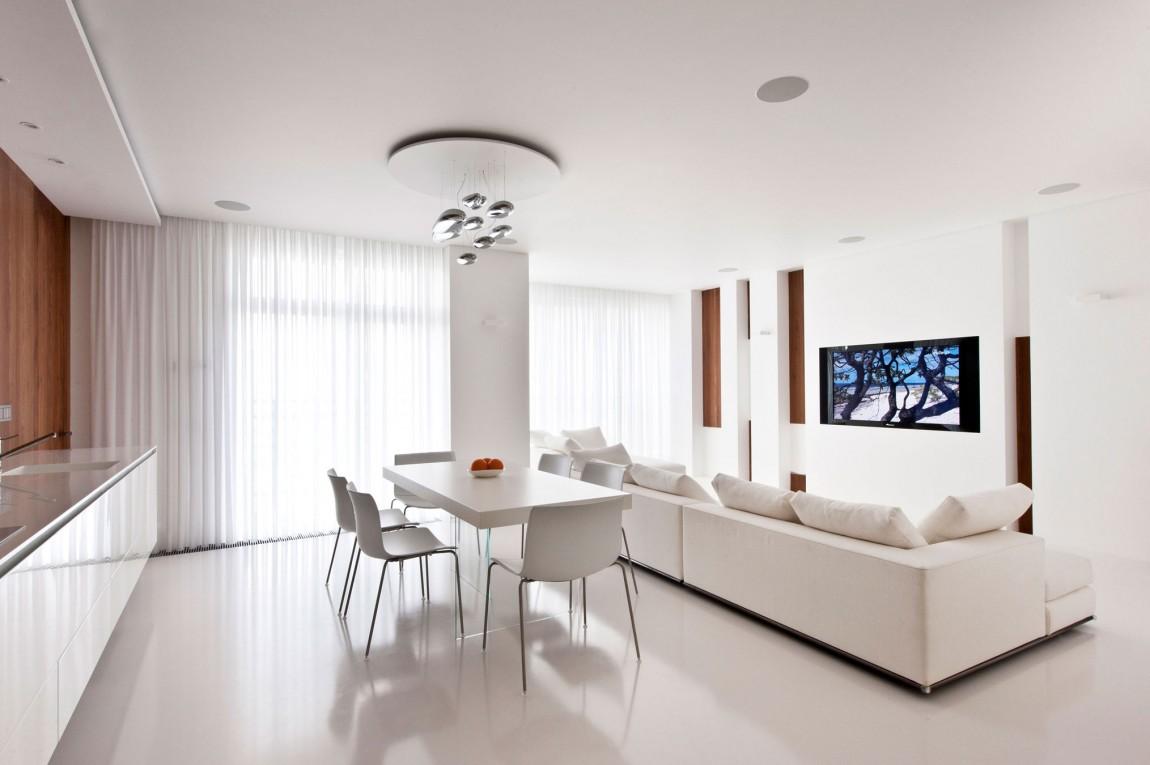 Гостиная, холл в цвете белый. Гостиная, холл в стиле минимализм.