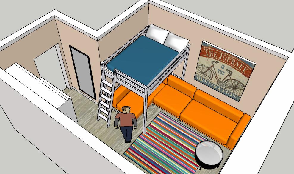 Гостиная, холл в цветах: оранжевый, желтый, бирюзовый, серый, белый. Гостиная, холл в .