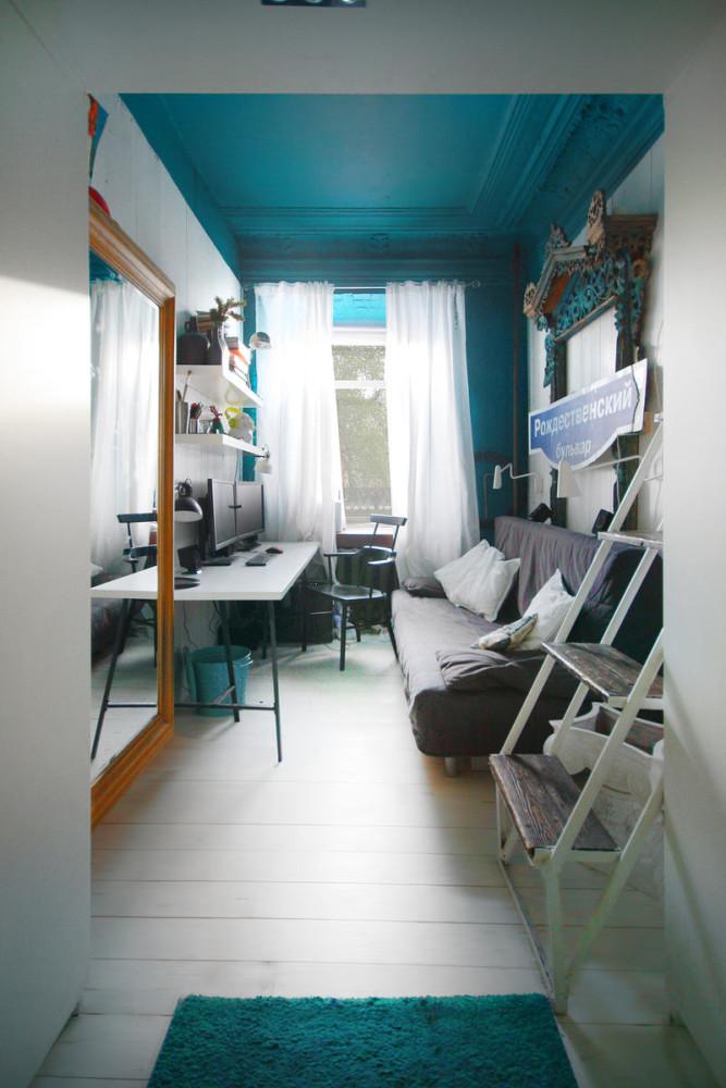 Офис в цветах: черный, серый, светло-серый, сине-зеленый. Офис в стилях: минимализм, поп-арт, эклектика.