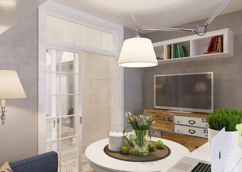 Гостиная, холл в цветах: серый, белый, темно-зеленый, коричневый. Гостиная, холл в стиле скандинавский стиль.