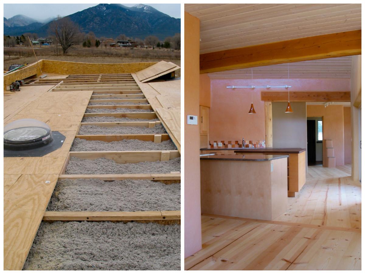 Кухня в цветах: коричневый, бежевый. Кухня в стиле экологический стиль.