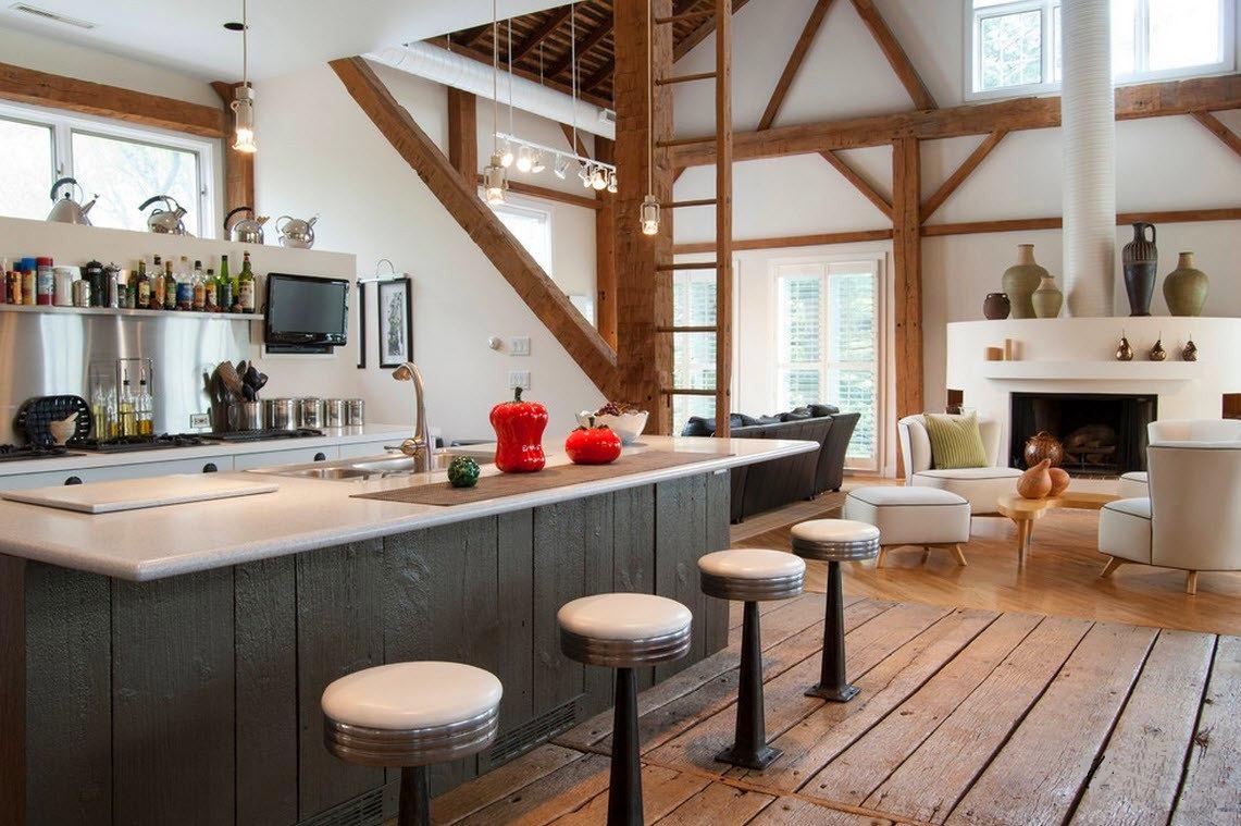 Кухня в цветах: серый, белый, коричневый, бежевый. Кухня в стилях: классика, эклектика.