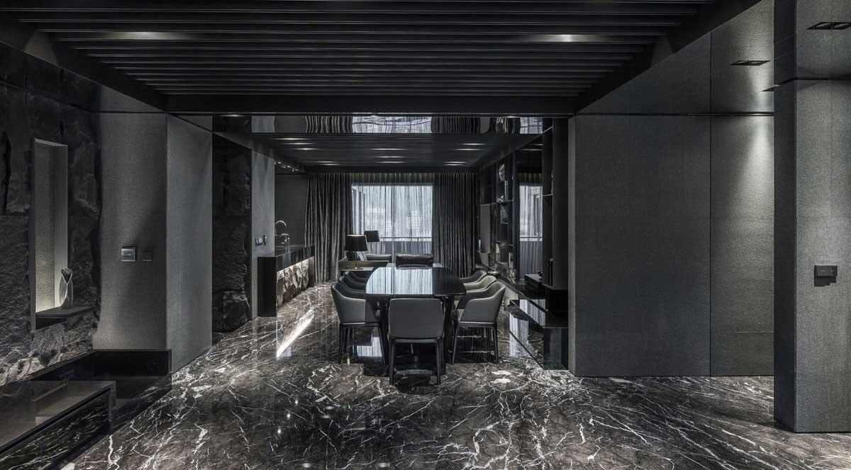 Гостиная, холл в цветах: серый, светло-серый. Гостиная, холл в стиле минимализм.