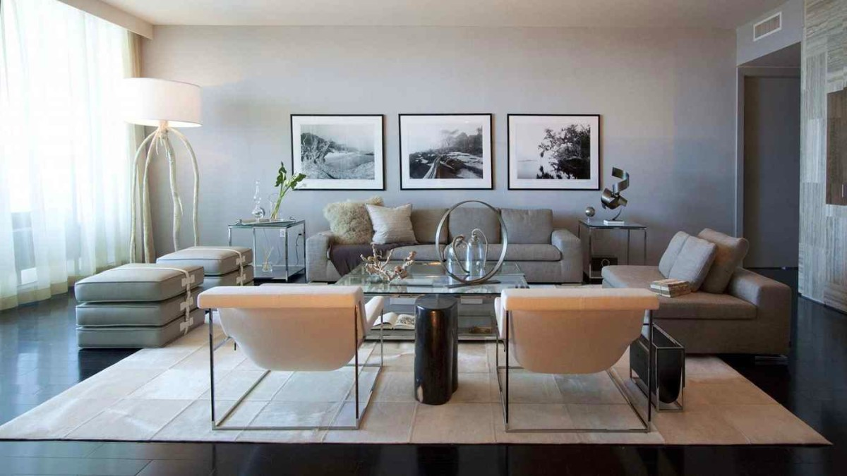 Гостиная, холл в цветах: черный, серый, светло-серый, коричневый. Гостиная, холл в стиле минимализм.