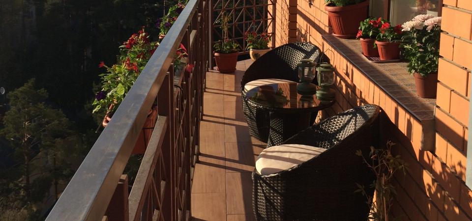 Уголок вдохновения: балкон дизайнера Людмилы Вербы
