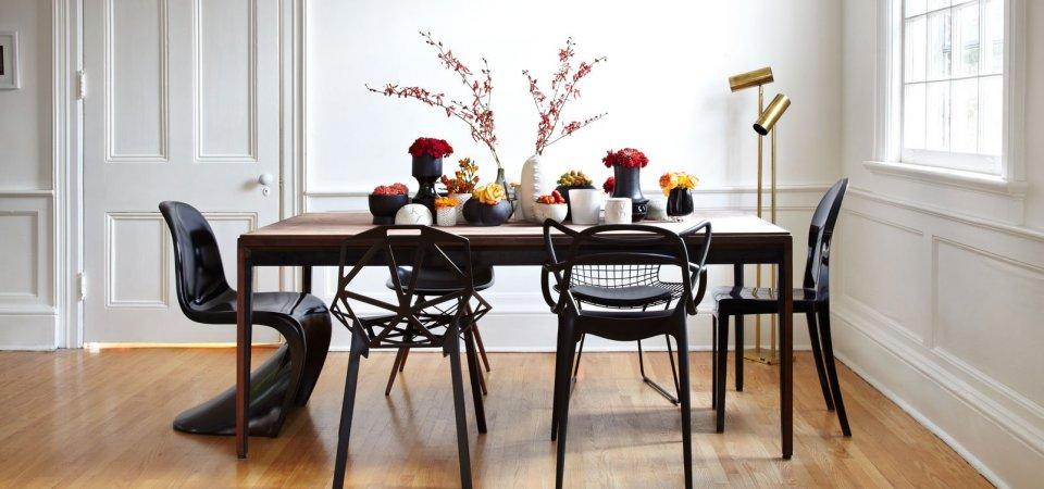 Как сочетать разные стулья вокруг обеденного стола: 7 оригинальных идей