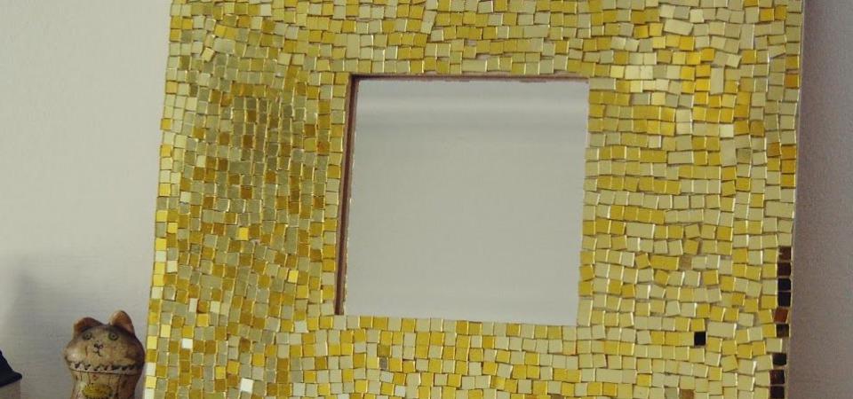 Как сделать мозаичное зеркало: мастер-класс