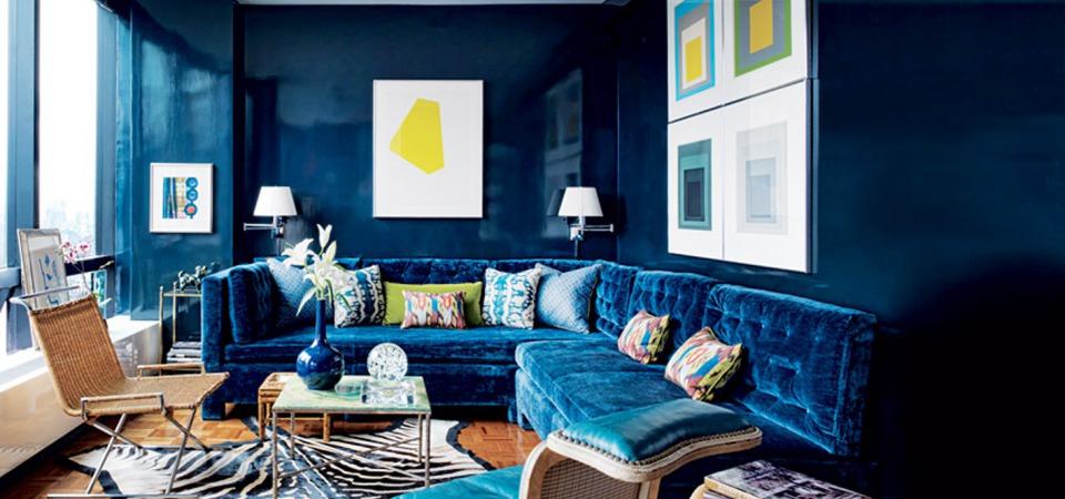200 оттенков синего: каким может быть синий интерьер
