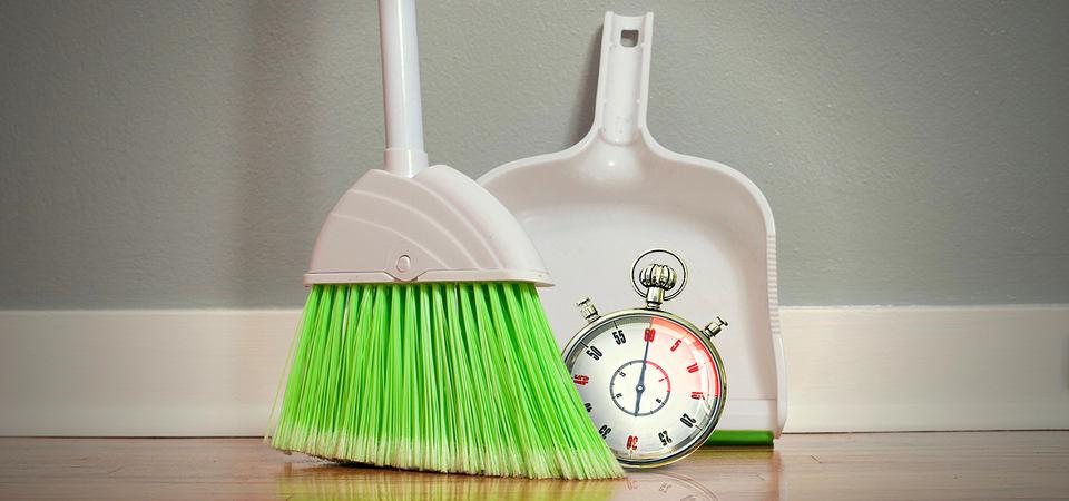 Как сделать уборку за 10 минут до прихода гостей
