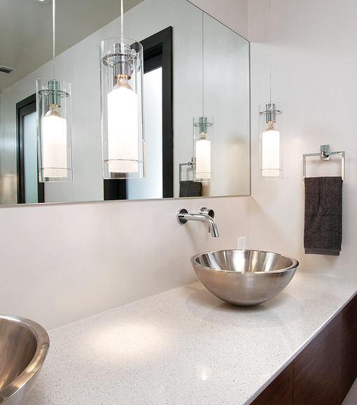 Туалет в цветах: черный, серый, светло-серый, белый, бежевый. Туалет в стиле минимализм.