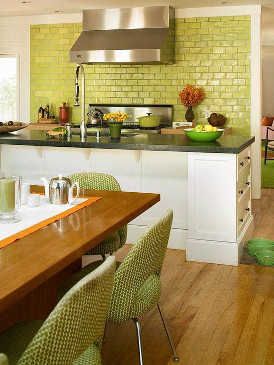 Кухня в цветах: светло-серый, темно-зеленый, бежевый. Кухня в .
