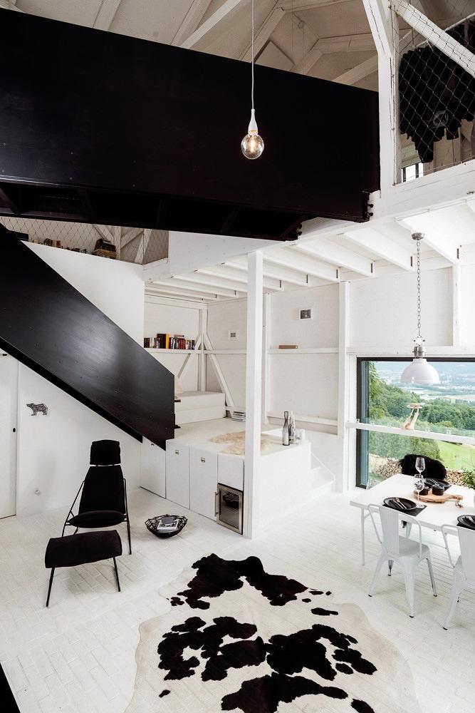 Гостиная, холл в цветах: черный, серый, светло-серый, белый, салатовый. Гостиная, холл в стиле скандинавский стиль.