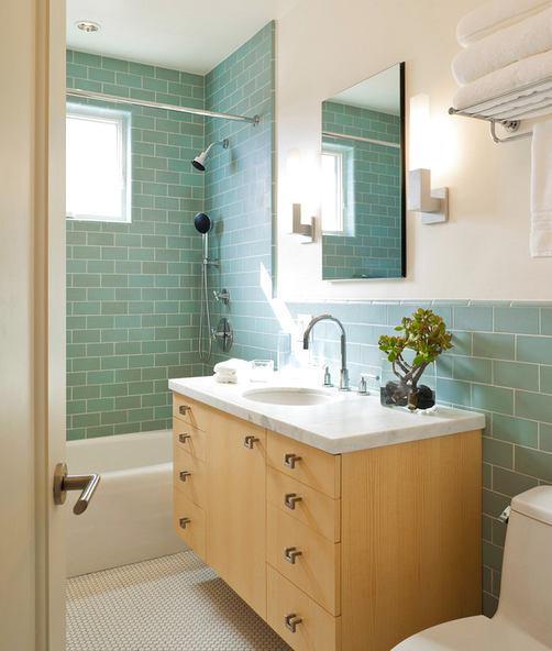 Туалет в цветах: бирюзовый, серый, белый, сине-зеленый, бежевый. Туалет в стиле минимализм.