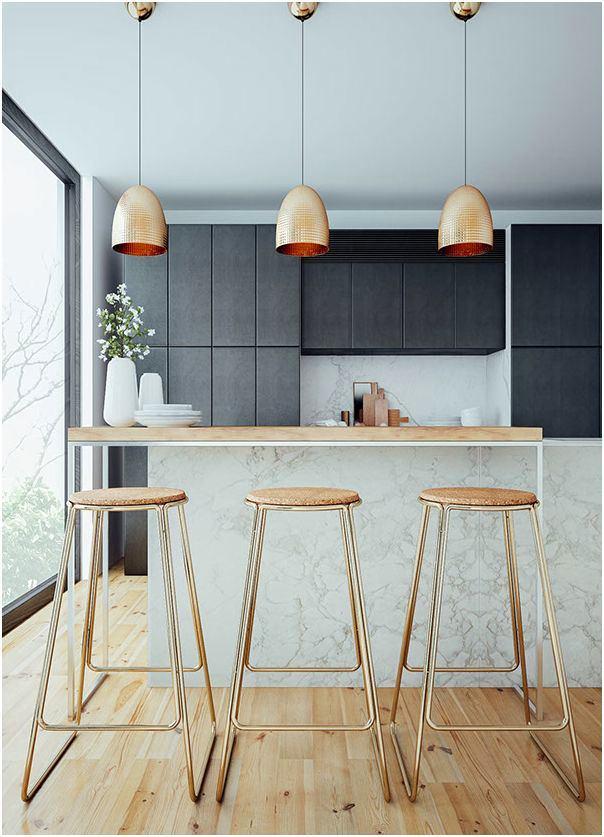 Кухня в цветах: черный, серый, светло-серый. Кухня в стиле минимализм.