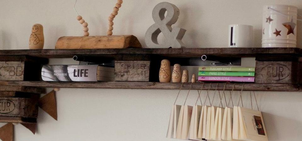 25 лучших идей хранения: полки из палетт