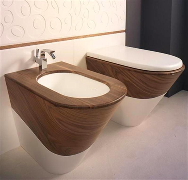 Туалет в цветах: серый, белый, коричневый, бежевый. Туалет в стилях: минимализм, экологический стиль.