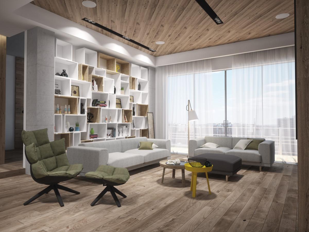 Проект минималистичной квартиры на Кутузовском для специалиста по IT-технологиям