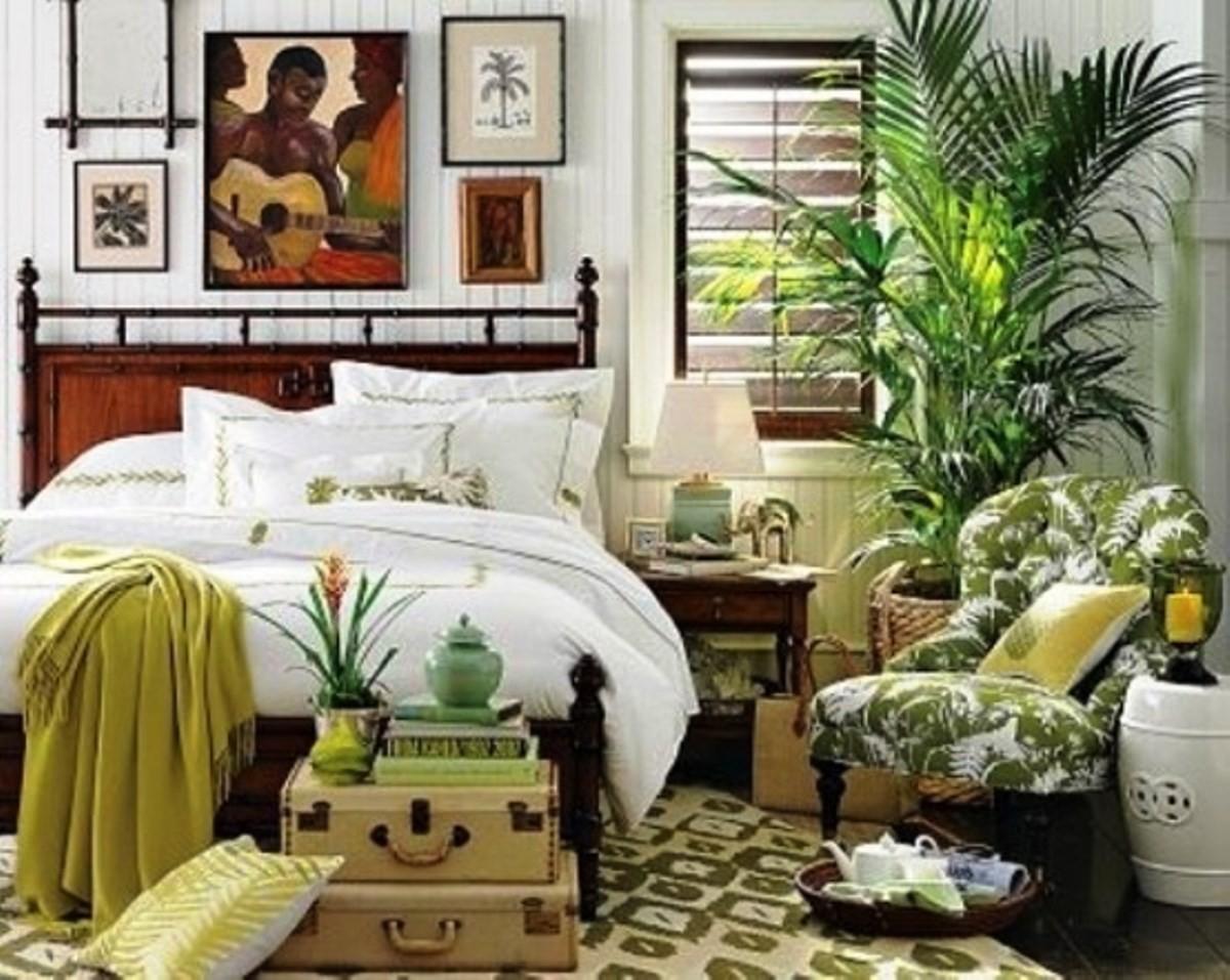 Тренд «тропики»: интерьеры, обои, мебель, аксессуары