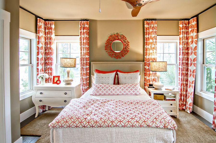 Спальня в  цветах:   Бежевый, Белый, Коричневый, Светло-серый.  Спальня в  стиле:   Эклектика.