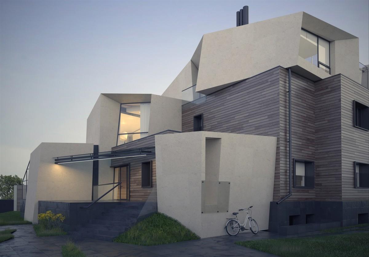 Архитектура в  цветах:   Бежевый, Светло-серый, Серый, Синий, Черный.  Архитектура в  .